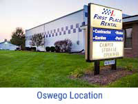 First Place Rental is conveniently located in Oswego & Sandwich IL