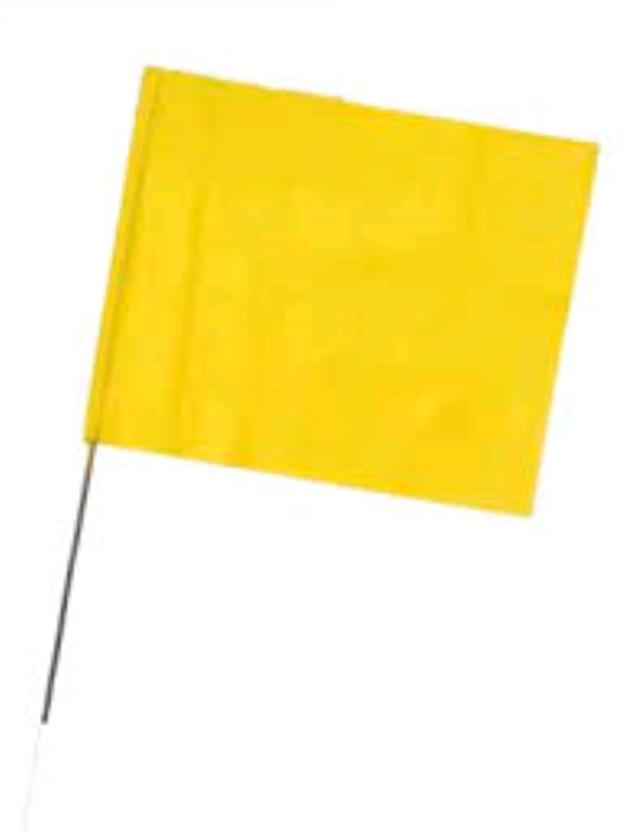 Where to find FLAG, 2.5X3.5 YELLOW STAKE in Oswego